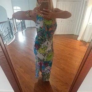 Stunning Tropical Venus Maxi Dress